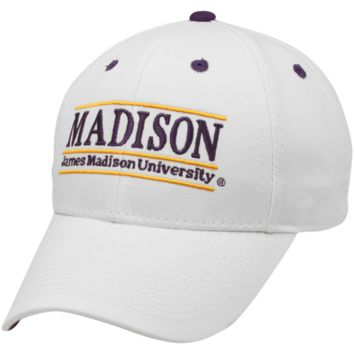 The Game James Madison Dukes Bar Design Adjustable Hat - White