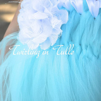 Pale Blue and White Birthday Ballerina Tulle Dress Size 2-4T