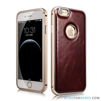 Luxury Padded Leather Case - iPhone 6