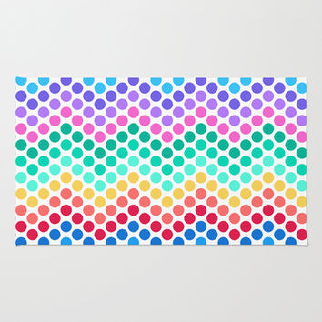 Dot Chevron: Rainbow Area & Throw Rug by Eileen Paulino