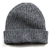 Ribbed Knit Hat in Charcoal