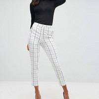 ASOS Tailored Slim Trouser in Grid Check at asos.com