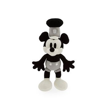 Disney Parks Steamboat Mickey Mouse Knit 11 inc Plush New with Tag