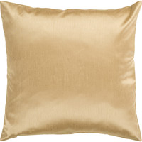 Surya Solid Luxe Throw Pillow Brown