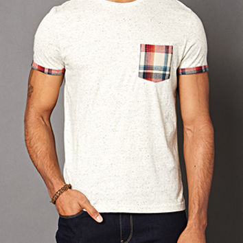 Plaid Pocket Tee Oatmeal