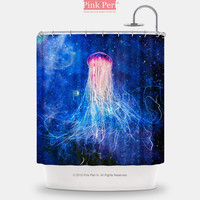 Galaxy Jellyfish Shower Curtain Free shipping Home & Living Bathroom 106