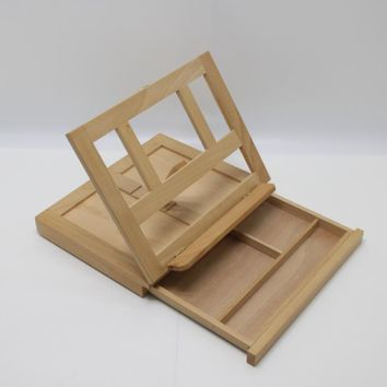 Artists Adjustable Desk Box Easel- Natural 16102