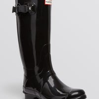 Hunter Huntress Extended Calf Glossy Rain Boots