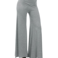 High Waist Pure Color Wide Leg Long Pants