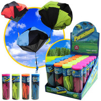Mini Parachute Toy 4 Colors Kids Soldier Toy Outdoor Sports Fun Children Intelligence Development Educational Toys