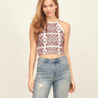 Slim Lace Crop Top