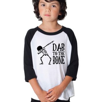 Dab To the Bone Dabbing Skeleton Long Sleeve Toddler and kids Shirt