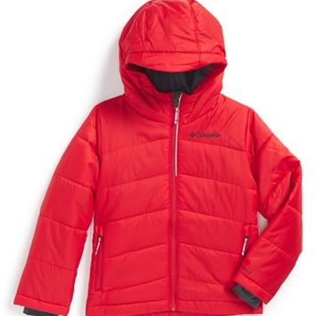 Boy's Columbia 'Shimmer Me' Hooded Waterproof Thermal Reflective Insulation Jacket,