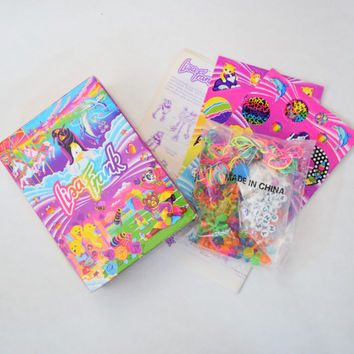 Lisa Frank Bead Set / Jewelry Making Kit // Kittens, Panda Painter, Ballerina Bunnies, Dolphins, Puppies & MORE // NEW in Box, Unused Set