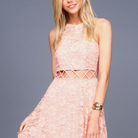 Lacy Lattice Skater Dress
