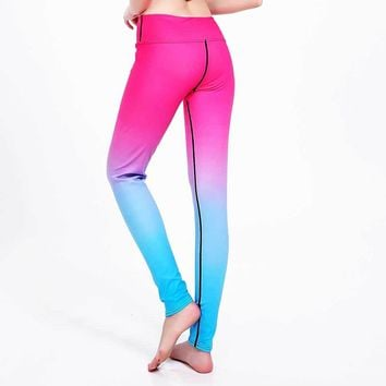 Women Bodybuilding Run Tight Sport Compress Gym Pant Yoga Exercise Fitness Quick Dry Legging Workout Ballet Dance Clothing E76