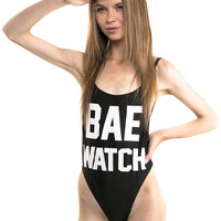 Black Bae Watch One Piece Swimsuit
