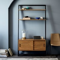 Ladder Shelf Media Console