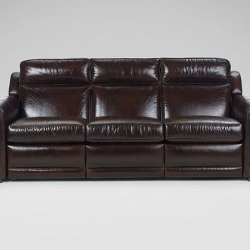 Johnston Leather Incliner Sofa, Anson/Espresso