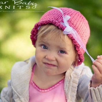 Ruffled Ribbon Hat - Custom Order Size & Color