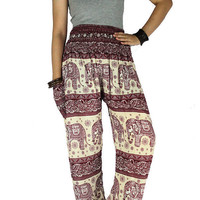 Gypsy pants Yoga pants Hippie pants  Elephant pants Harem pants Thai pants Hippie clothes Palazzo pants Elephant clothes
