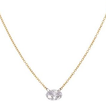 Single Free Set Diamond Necklace