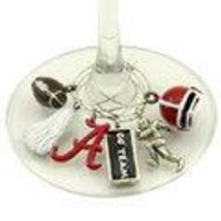 Alabama Crimson Tide NCAA Glassware Charm Set (Set of 6)