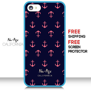 iPhone 6 Pink Anchor Case Anchor Pattern IPhone 5S Case Nautical Sailor Symbol Cell Phone Case Anchor Pattern iPhone 6 Case iPhone 6 Plus