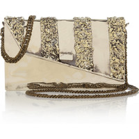 Anndra Neen | Melted Envelope silver-tone shoulder bag | NET-A-PORTER.COM