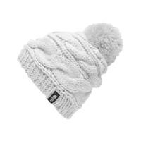 The North Face Triple Cable Pom Beanie in TNF White NF00CLN6-FN4