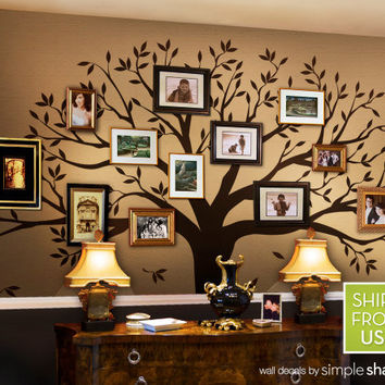 Family Tree Decal - Photo Tree Decal - Family Tree Wall Decal