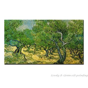 Olive Tree Of Vincent Van Gogh 100% Hand Made Reproduction Tree Oil Painting On Canvas Wall Art Picture For Living Room