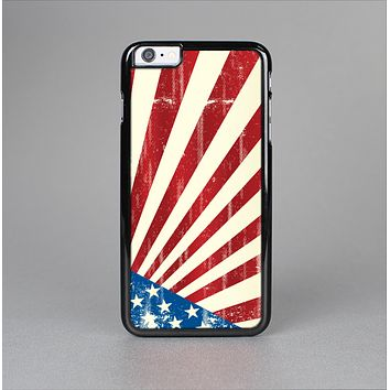 The Vintage Tan American Flag Skin-Sert for the Apple iPhone 6 Plus Skin-Sert Case