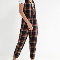 UO Reign Plaid Flannel Jumpsuit | Urban Outfitters