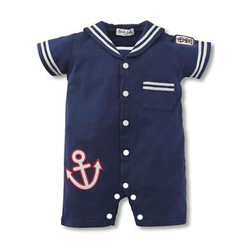 Baby Rompers Summer Baby Boy Clothes Newborn Baby Clothes Navy Style Baby Girl Clothes Roupas Bebe Infant Jumpsuits Kids Clothes