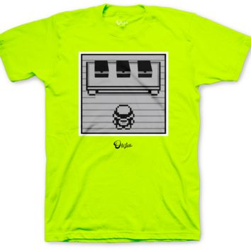 Foamposite Pro Volt Cop Em All Safety Green T Shirt