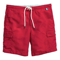 H&M - Swim Shorts - Red - Men