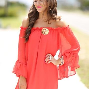 Streetstyle  Casual Red Irregular Ruffle Tiered Off Shoulder Long Sleeve Comfy Flowy Mini Dress