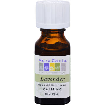Aura Cacia Pure Essential Oil Lavender - 0.5 fl oz