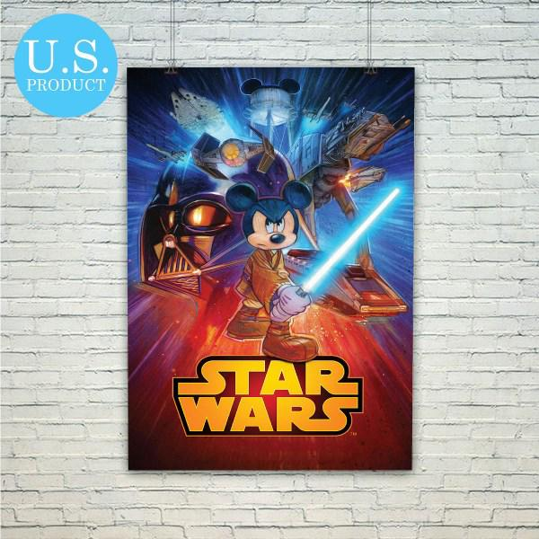 Disney Mickey Mouse Star Wars Poster From Piegabags Com Poster