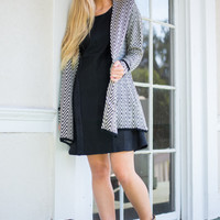 Inside And Out Cardigan, Black/White