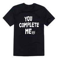 5sos You Complete Mess Me Luke Hemmings T-shirt-01 (M, BLACK)