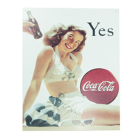 Coca-Cola Retro Bathing Beauty Metal Sign - Signs - Collectibles - Goods | Coke Store