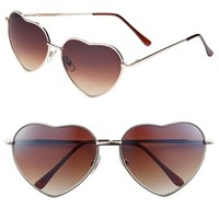 Junior Women's BP. Heart Shaped 58mm Sunglasses