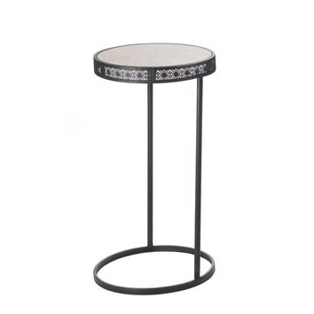 Metal Half-moon Accent Table