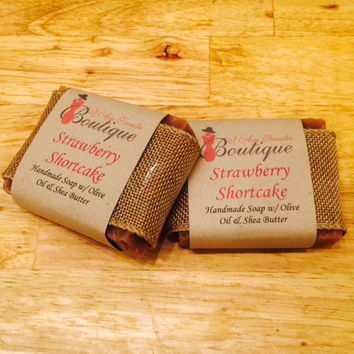 Strawberry Shortcake Soap Bar
