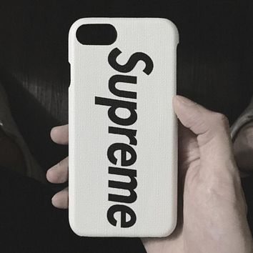 Supreme Trending Women Men Simple Letter Print iPhone Phone Cover Case For iphone 6 6s 6plus 6s-plus 7 7plus 8 Iphone X + Best Gift White