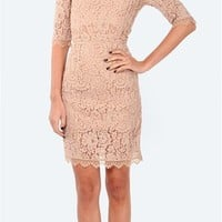 Femme D'armes - Ansel Boatneck Lace Dress- Nude