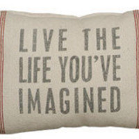 Live the Life - Linen Pillow ? French Beach House Decor & Furniture