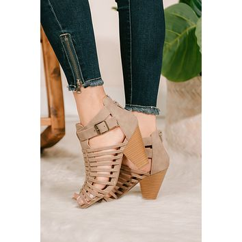 Once In A Lifetime Cutout Booties (Taupe)